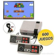 Videojuegos y Consolas: MINI CONSOLA RETRO 600 JUEGOS NUEVA A ESTRENAR. Lote 262486145