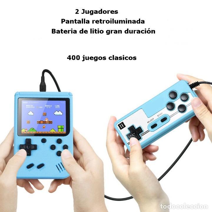 """Videojuegos y Consolas: consola de video juego portátil - 3"""" LCD - 400 Juegos clasicos . Color azul - Nueva. - Foto 2 - 268156079"""