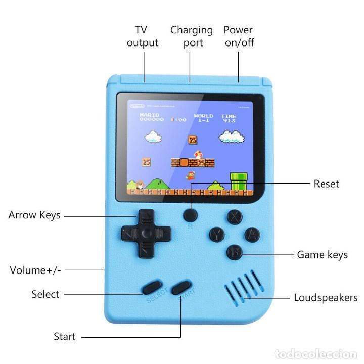"""Videojuegos y Consolas: consola de video juego portátil - 3"""" LCD - 400 Juegos clasicos . Color azul - Nueva. - Foto 3 - 268156079"""