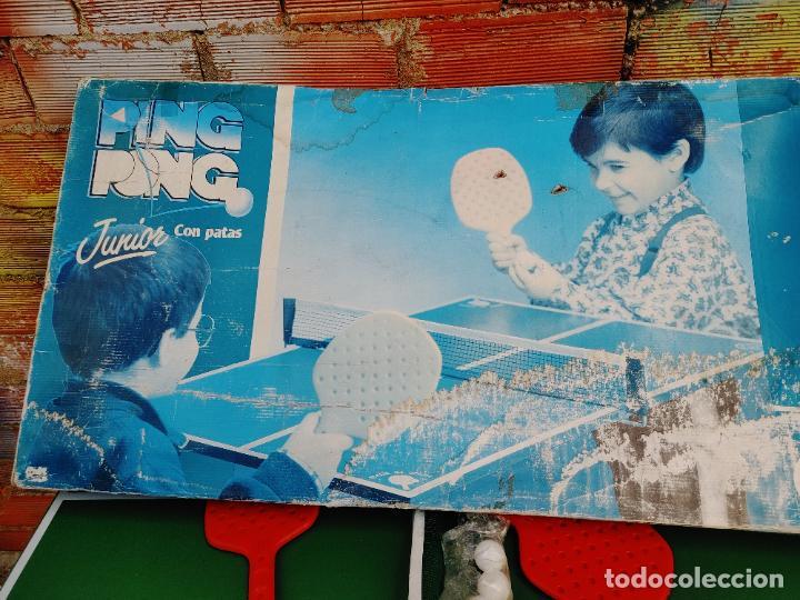 Videojuegos y Consolas: JUEGO MESA PING PONG JUNIOR CON PATAS DE JUGUETES RIMA EN SU CAJA AÑOS 80 REF. 1271 FABRICADO ESPAÑA - Foto 7 - 268258734
