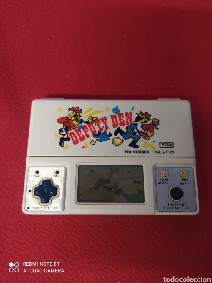 CONSOLA LCD DEPUTY DEN V TECH TRI-SCREEN (Juguetes - Videojuegos y Consolas - Otros descatalogados)