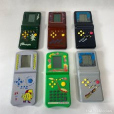 Videojuegos y Consolas: LOTE DE 6 MAQUINITAS VINTAGE - BLOCK GAEM / BRICK GAME / BLOCK GAEM - TETRIS - FUNCIONAN. Lote 269112743