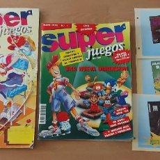 Videojuegos y Consolas: LOTE 10 REVISTAS SUPER JUEGOS N° 1 2 3 5 7 8 9 11 12 14 + CARPETA Y FICHAS AÑO 1992. Lote 269335833