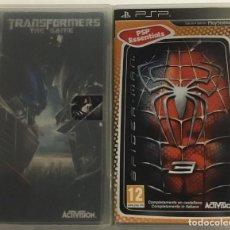 Videojuegos y Consolas: LOTE DE DOS JUEGOS PSP – TRANSFORMERS (THE GAME) + SPIDERMAN 3. Lote 271055158