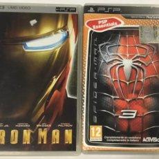 Videojuegos y Consolas: LOTE DE DOS JUEGOS PSP – IRONMAN – SPIDERMAN. Lote 271056553
