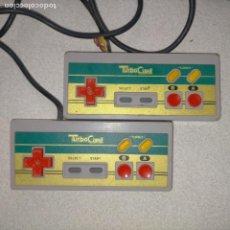 Videojuegos y Consolas: 2 MANDOS CONSOLA TURBO CARD - TAL CULA FOTOS. Lote 274324483