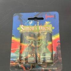 Videojuegos y Consolas: PAQUETE DE PILA CON PUBLICIDAD DEL MITICO JUEGO SIMONS SIMON S QUEST CASTLEVANIA KONAMI 1988. Lote 275136213