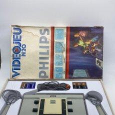 Videojuegos y Consolas: VÍDEO CONSOLA PHILIPS VIDEOJEU N20 1977 RARÍSIMA EN CAJA ÚNICA EN TC. Lote 277539713