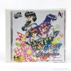Videojuegos y Consolas: GRADUATION 卒業 グラデュエーション 1993 PC ENGINE SUPER CD ROM2 NEC JAPAN RARE PCE WORKING JUEGO FUNCIONANDO OK. Lote 278494223