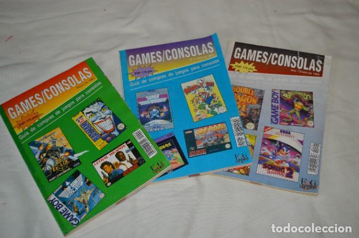 GAMES/CONSOLAS / AÑO 1 / 3 DE LOS PRIMEROS EJEMPLARES NÚM. 01, 03 Y 04 / ¡MIRA FOTOS Y DETALLES! (Juguetes - Videojuegos y Consolas - Otros descatalogados)