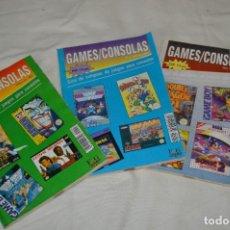 Videojogos e Consolas: GAMES/CONSOLAS / AÑO 1 / 3 DE LOS PRIMEROS EJEMPLARES NÚM. 01, 03 Y 04 / ¡MIRA FOTOS Y DETALLES!. Lote 286009068