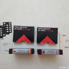 Videojuegos y Consolas: LOTE DE 2 CARTUCHOS JUEGOS CASSETTE TRQ PARA SISTEMA DE VIDEO H - 21. Lote 287390423