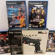 Videojuegos y Consolas: LOTE DE JUEGOS PS2 + PISTOLA. Lote 293941293