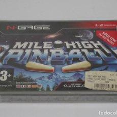 Videojuegos y Consolas: N-GAGE - MILE HIGH PINBALL ED. ESPAÑOL NUEVO PRECINTADO NEW SEALED NOKIA NGAGE N GAGE. Lote 295407538