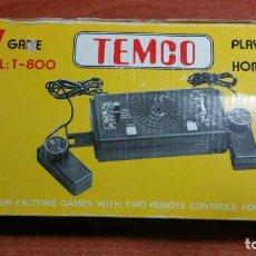 Videojuegos y Consolas: PONG TEMCO T-800 VIDEOCONSOLA AÑOS 70' 80'. TV GAME. TENNIS, HOCKEY, SQUASH, PRACTICE.. Lote 296707073