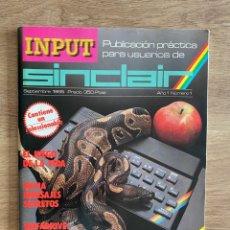 Videojuegos y Consolas: REVISTA SINCLAIR NÚMERO 1 - 1985 - INPUT. Lote 297102573