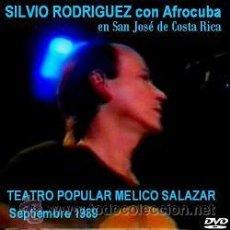 Vídeos y DVD Musicales: SILVIO RODRIGUEZ CON AFROCUBA EN COSTA RICA (1989 - DVD). Lote 194724333