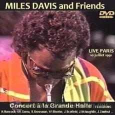 Vídeos y DVD Musicales: MILES DAVIS AND FRIENDS – PARÍS 1991 DVD. Lote 44980737