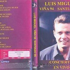Vidéos y DVD Musicaux: LUIS MIGUEL DVD VIÑA DEL MAR 1994 SANTIAGO 1996 EN VIVO. Lote 26493175