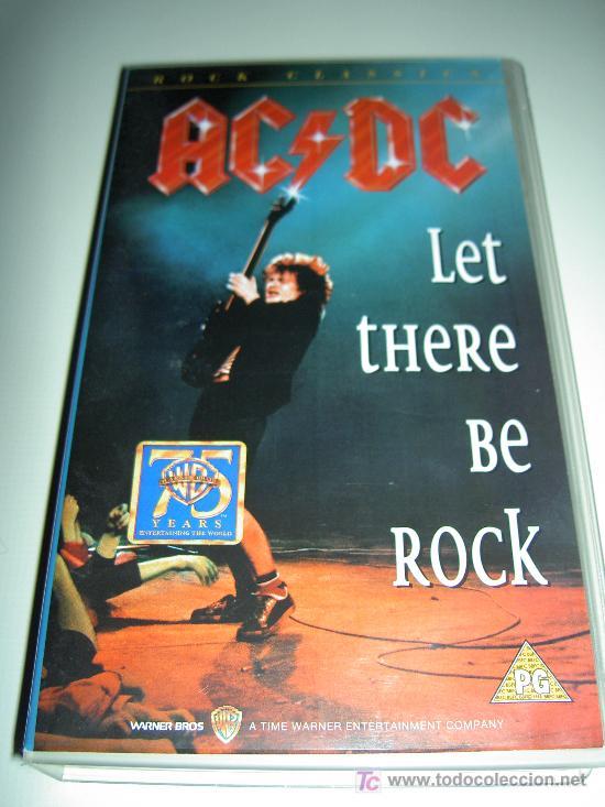 AC/DC VHS MUSICA HEAVY ROCK, LET THERE BE ROCK, ORIGINAL. RELIQUIA (Música - Videos y DVD Musicales)