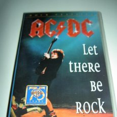 Vídeos y DVD Musicales: AC/DC VHS MUSICA HEAVY ROCK, LET THERE BE ROCK, ORIGINAL. RELIQUIA. Lote 24891133