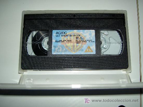 Vídeos y DVD Musicales: AC/DC VHS MUSICA HEAVY ROCK, LET THERE BE ROCK, ORIGINAL. Reliquia - Foto 3 - 24891133