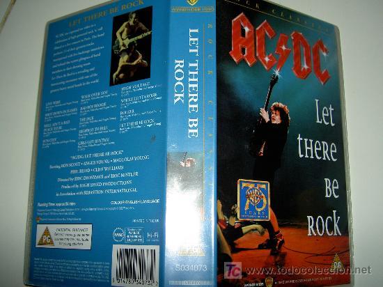 Vídeos y DVD Musicales: AC/DC VHS MUSICA HEAVY ROCK, LET THERE BE ROCK, ORIGINAL. Reliquia - Foto 2 - 24891133
