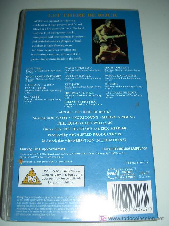 Vídeos y DVD Musicales: AC/DC VHS MUSICA HEAVY ROCK, LET THERE BE ROCK, ORIGINAL. Reliquia - Foto 4 - 24891133