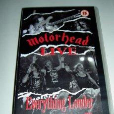 Vídeos y DVD Musicales: MOTORHEAD VHS MUSICA HEAVY ROCK METAL , EVERYTHING LOUDER , ORIGINAL.. Lote 26765273