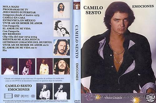 Camilo Sesto Dvd Emociones Con Imagenes De Jesu Sold Through Direct Sale 17084616