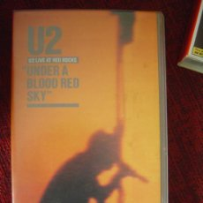 Vídeos y DVD Musicales: U2 - LIVE AT RED ROCKS (UNDER A BLOOD RED SKY) VHS. Lote 25875563
