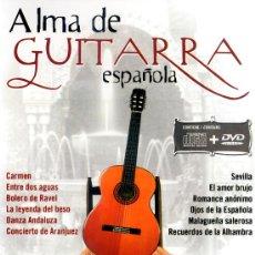 Vídeos y DVD Musicales: ALMA DE GUITARRA ESPAÑOLA ( 1 DVD MÁS 1 CD PRECINTADO) VER TEMAS MUSICALES EN EL INTERIOR. Lote 109427562