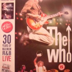 Vídeos y DVD Musicales: THE WHO - 30 YEARS OF MAXIMUM R&B LIVE - VIDEO VHS LARGA DURACIÓN (2 HORAS 35 MINUTOS) - ROCK 70'S . Lote 26605566