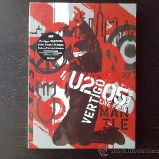 Vídeos y DVD Musicales: U2 - VERTIGO 2005 - LIVE FROM CHICAGO - DELUXE LIMITED EDITION - DOBLE DVD - BONUS MATERIAL - 2005. Lote 27612535