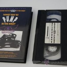Vídeos y DVD Musicales: VIDEO VHS 'THINGS THAT GO PUMP IN THE NIGHT' - AEROSMITH. Lote 25017403