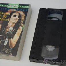 Vídeos y DVD Musicales: VIDEO VHS 'WELCOME TO MY NIGHTMARE' - ALICE COOPER. Lote 25017414