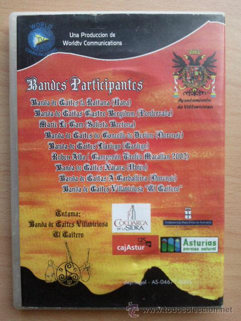 Vídeos y DVD Musicales: DVD FESTIVAL BANDES DE GAITES MALIAYO - 15 OCHOBRE 2005 - VILLAVICIOSA - ASTURIAS - Foto 2 - 113619402