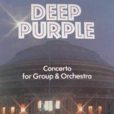 Vídeos y DVD Musicales: DEEP PURPLE: CONCERTO FOR GROUP & ORCHESTRA (1969) - VIDEO VHS 51 MINUTOS HARD ROCK. Lote 26606176