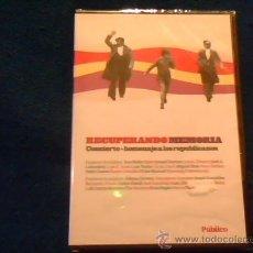 Vídeos y DVD Musicales: RECUPERANDO LA MEMORIA. DVD DEL CONCIERTO HOMENAJE A LOS REPUBLICANOS. LABORDETA, AUTE, J. ALVAREZ... Lote 28378612