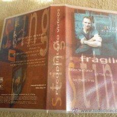Vídeos y DVD Musicales: STING ...ALL THIS TIME FRAGILE VIDEO VHS PROMOCIONAL EXTRACTOS DEL CONCIERTO ITALIA 2001 POLICE. Lote 29177547
