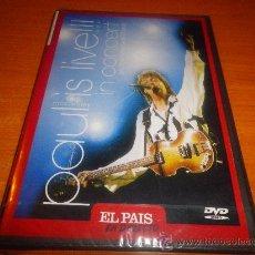 Vídeos y DVD Musicales: PAUL MCCARTNEY IN CONCERT ON THE NEW WORLD TOUR DVD NO CD COLECCIÓN EL PAÍS PRECINTADO THE BEATLES. Lote 29732426