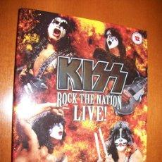 Vídeos y DVD Musicales: 2 DVD KISS - ROCK THE NATION LIVE!- 26 CANCIONES+ DOCUMENTAL-REGION 0 -136 MINUTOS- . Lote 131912906