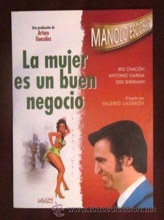 MANOLO ESCOBAR - DVD - LA MUJER ES UN BUEN NEGOCIO- DIRIGIDA POR VALERIO LAZAROV (Música - Videos y DVD Musicales)