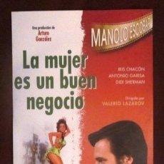 Vídeos y DVD Musicales: MANOLO ESCOBAR - DVD - LA MUJER ES UN BUEN NEGOCIO- DIRIGIDA POR VALERIO LAZAROV. Lote 32219838