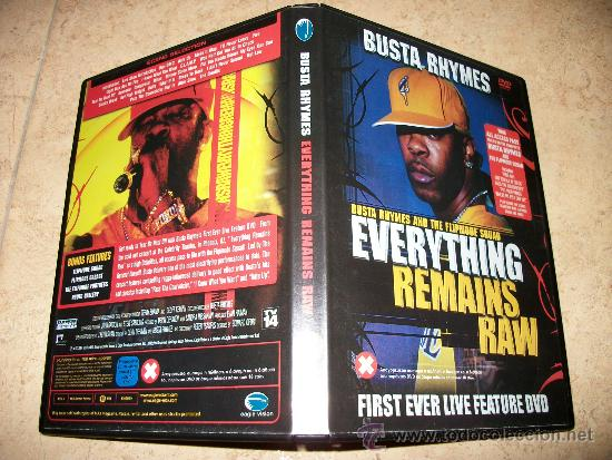DVD BUSTA RHYMES - EVERYTHING REMAINS RAW - FIRST EVER LIVE - 100 MINUTOS - EN INGLES - HIP HOP (Música - Videos y DVD Musicales)