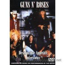 Vídeos y DVD Musicales: GUNS N' ROSES / DESTRUCTIVE APPETITE INTERVIEWS ( DVD - 150 MTOS !! SOLO 5.99 !! PRECINTADO ! ). Lote 34202596