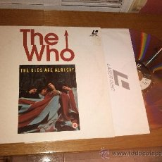 Vídeos e DVD Musicais: THE WHO - THE KIDS ARE ALRIGHT - LASERDISC 95 MIN. 1979 BMG VIDEO. Lote 34391631