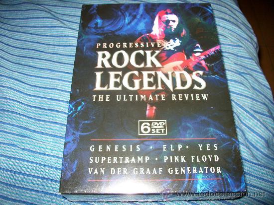 6DVD ROCK LEGENDS - ULTIMATE REVIEW - GENESIS - ELP - YES - SUPERTRAMP - VAN DER GRAAF GENERATION - (Música - Videos y DVD Musicales)