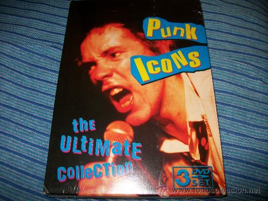3DVD PUNK ICONS - ULTIMATE COLLECTION - SEX PISTOLS - RAMONES - CLASH - PRECINTADA (Música - Videos y DVD Musicales)