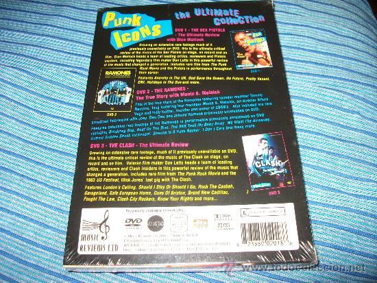 Vídeos y DVD Musicales: 3DVD PUNK ICONS - ULTIMATE COLLECTION - SEX PISTOLS - RAMONES - CLASH - PRECINTADA - Foto 2 - 35539082